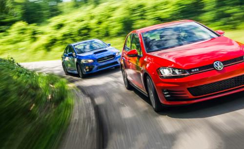 2015 Subaru WRX vs. 2015 Volkswagen GTI – Comparison Tests