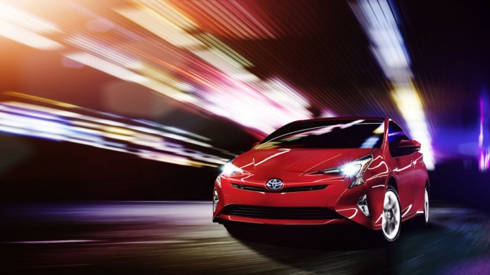 2016 Toyota Prius literally descends in Las Vegas