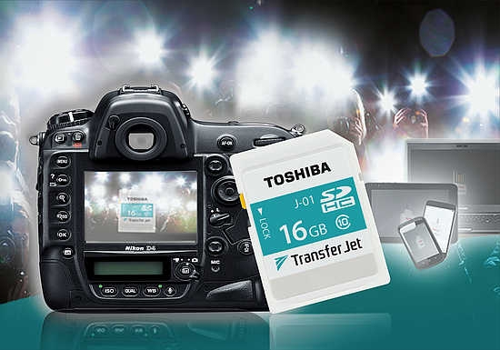 Toshiba unveils 16GB SDHC TransferJet media card