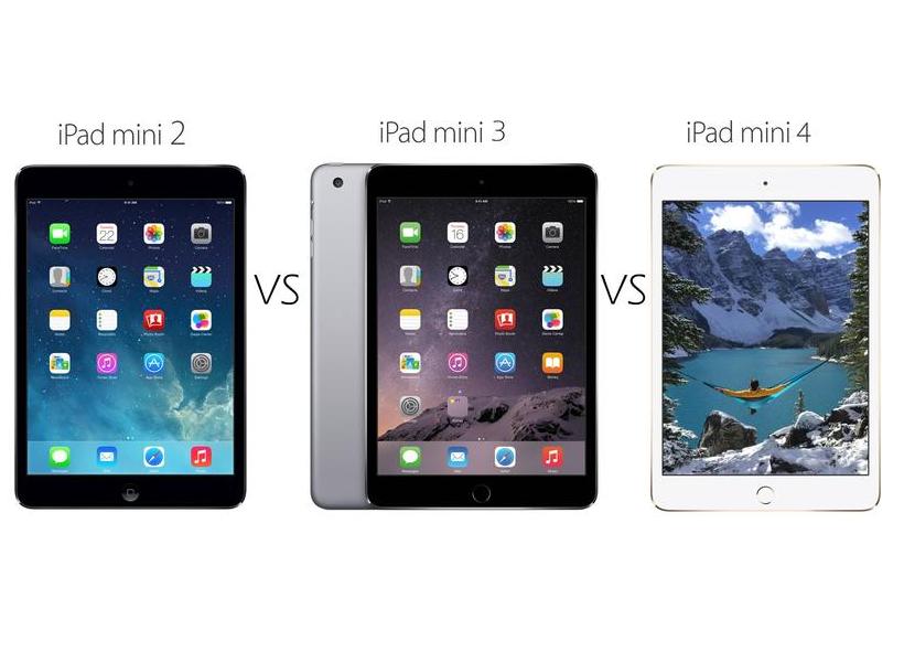iPad mini 2 vs iPad mini 3 vs iPad mini 4 comparison: what ...