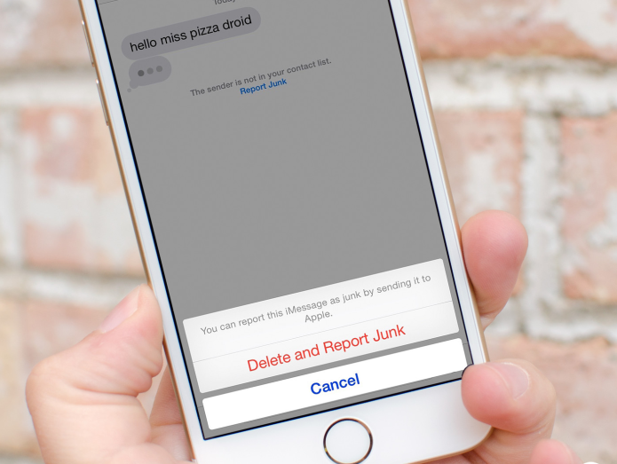 How to filter, report iMessages as spam on iOS 8.3