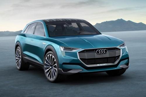 Audi's 496HP e-tron quattro concept previews 2018's all-electric SUV