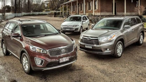 2015 Kia Sorento, Toyota Kluger and Ford Territory review