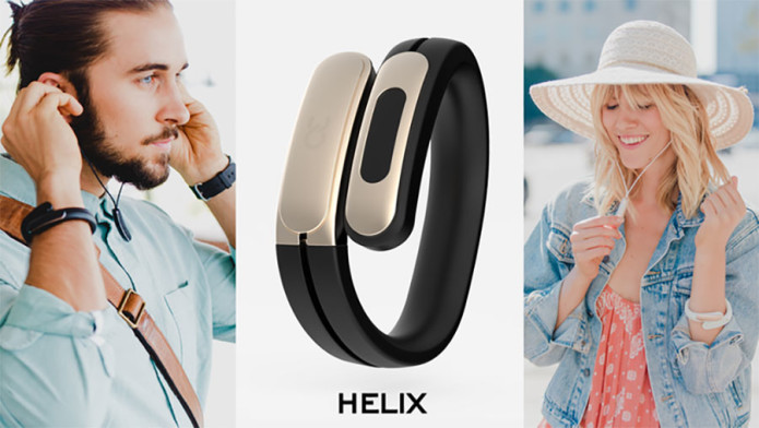 Helix wearable cuff and Bluetooth headphones mix fashion with tech