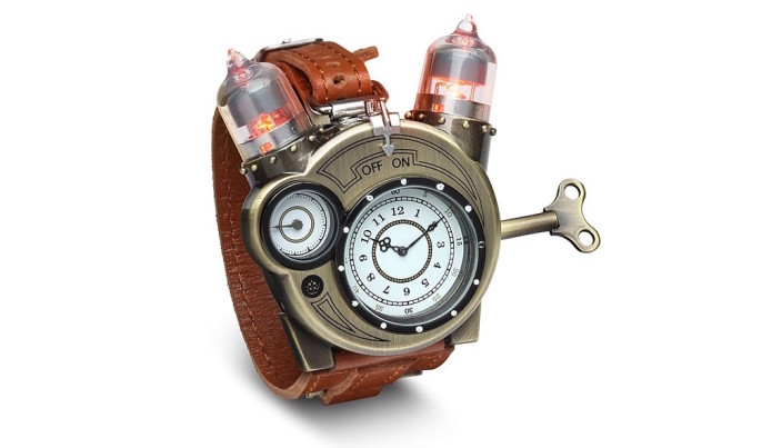 ThinkGeek's Tesla Watch is steampunk-chic
