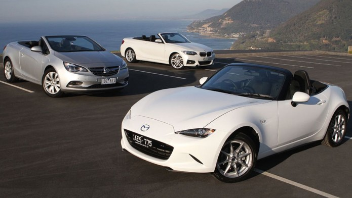 2015 Mazda MX-5, Holden Cascada and BMW 2 Series Convertible review