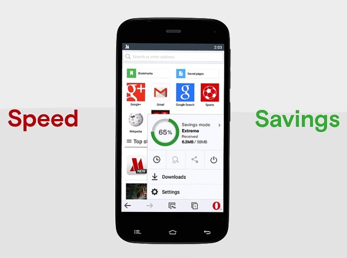 Opera Mini on Android updated with data saving modes