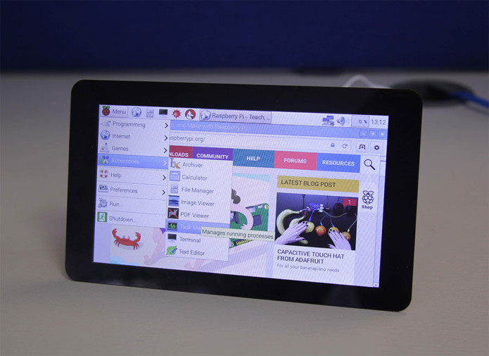 Raspberry Pi digital display launches with 800 x 480 resolution