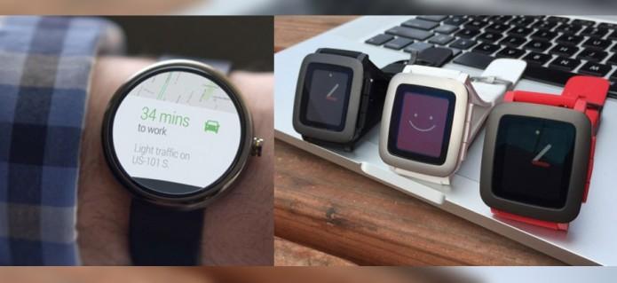 Android Wear's iOS victim isn't Apple Watch, it's Pebble