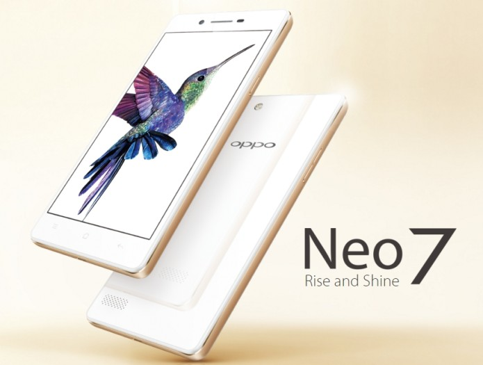 OPPO Neo 7 announced, 5-inch display with Snapdragon 410 processor