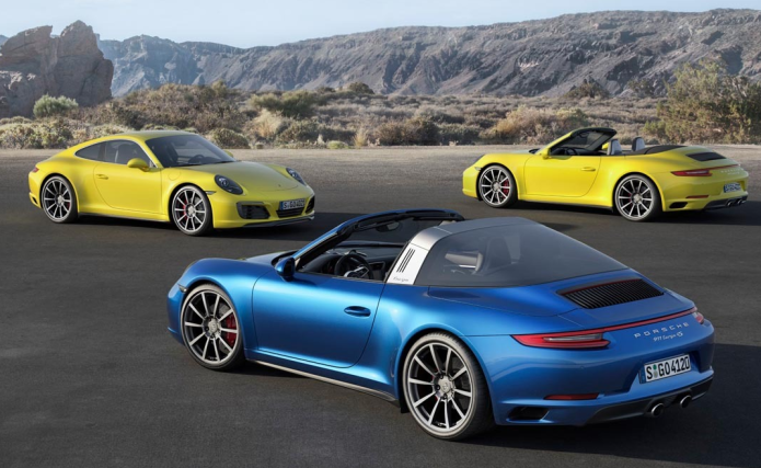 Porsche 911 Carrera 4 and Targa 4 models debut with turbo engines