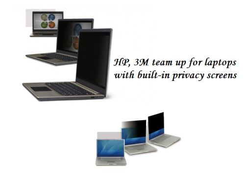 HP, 3M team up for laptops with built-in privacy screens