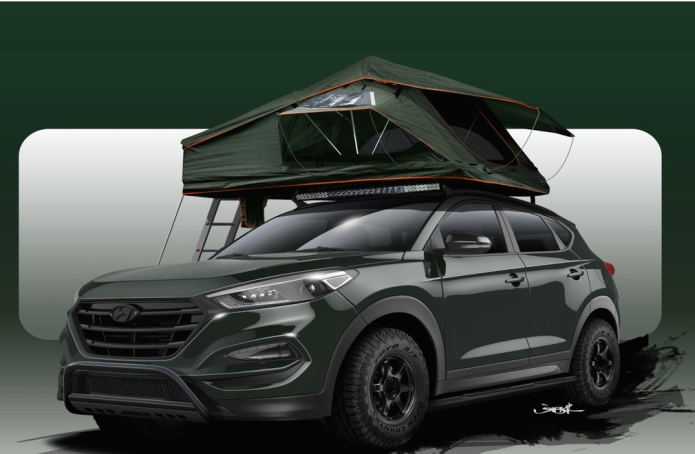 Hyundai Tucson Adventuremobile is ready for off-road shenanigans