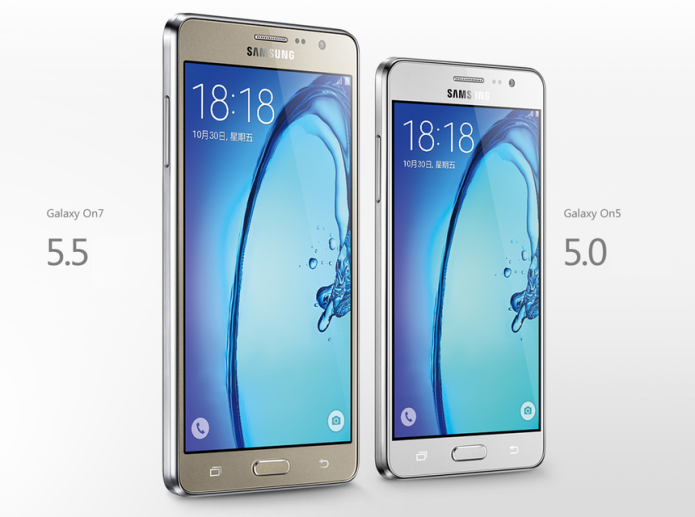 Samsung Galaxy On5 and Galaxy On7 get official