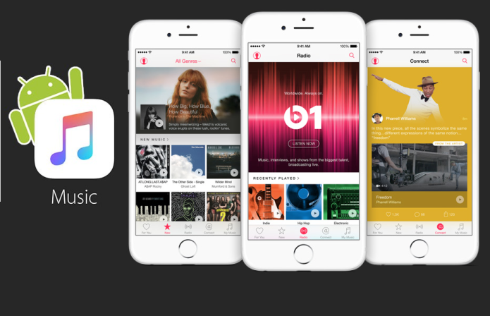 Apple Music for Android screenshots leak