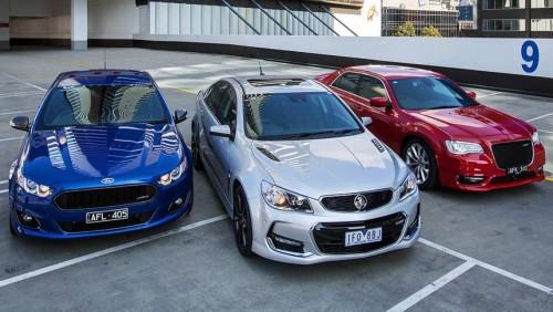 2015 Holden Commodore SS-V Redline, Chrysler 300 SRT and Ford Falcon XR8 review
