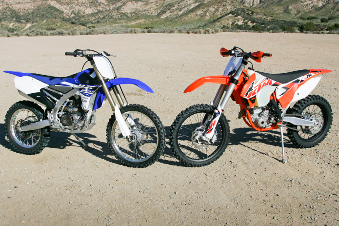 2015 KTM 250 XC-F vs. Yamaha YZ250FX Comparison Review