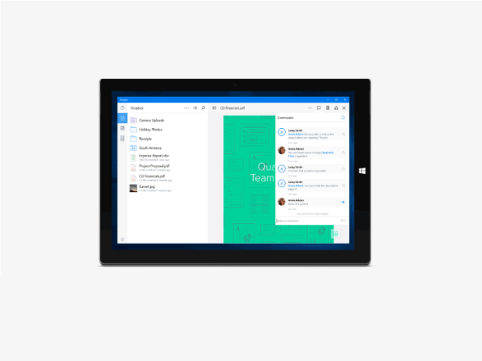 Dropbox apps for Windows 10 PCs and tablets unveiled