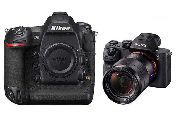 Nikon D5 vs Sony A7RII Specifications Comparison