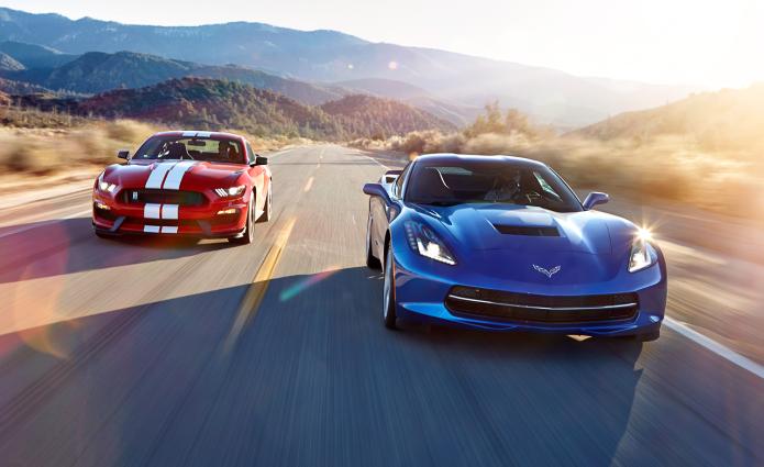2016 Chevrolet Corvette Stingray Z51 vs. 2016 Ford Mustang Shelby GT350 - Comparison Tests