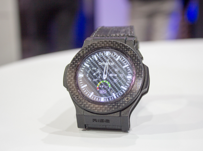 Omate Rise preview: Full Android 3G smartwatch with carbon fibre for $280