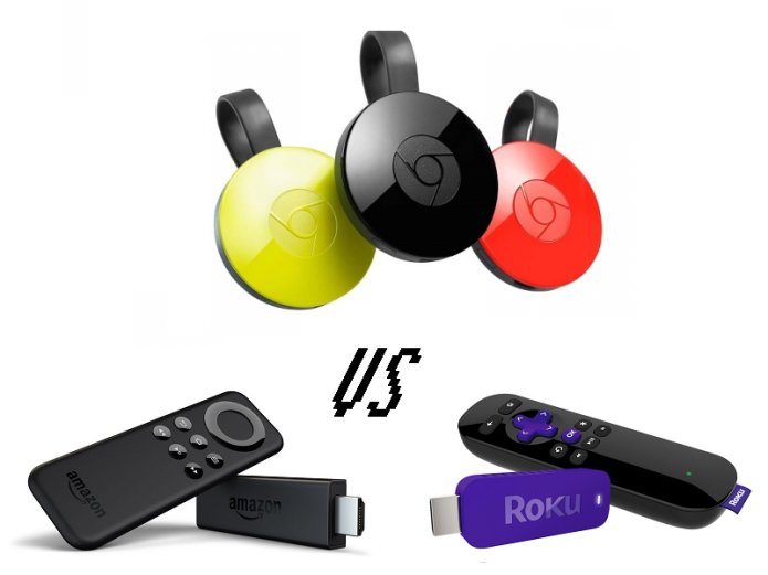 Chromecast vs Fire TV Stick vs Roku Stick: Face-Off