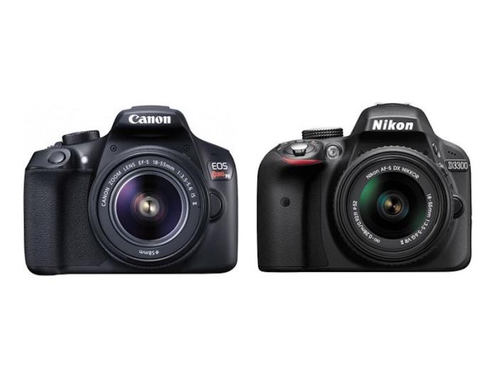 Canon Rebel T6 vs Nikon D3300 Specifications Comparison