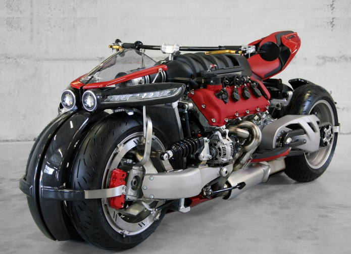 Lazareth LM 847: This Motorcycle Runs On A 470-HP Maserati Engine