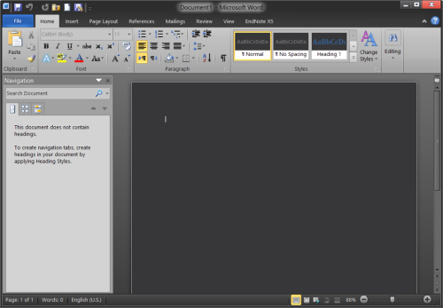 How to Turn on the Black Theme in Microsoft Office