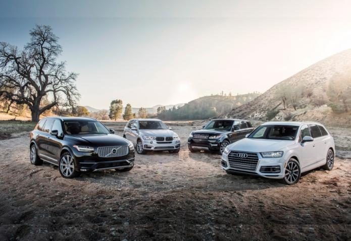 2017 Audi Q7 3.0T vs. 2015 BMW X5 xDrive35i, 2015 Land Rover Range Rover Sport HSE, 2016 Volvo XC90 T6 AWD Inscription - Comparison Tests
