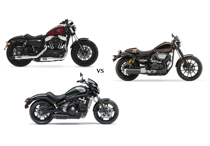 Harley-Davidson Sportster Forty-Eight vs. Kawasaki Vulcan S Café vs. Star Bolt C-Spec - COMPARISON TEST