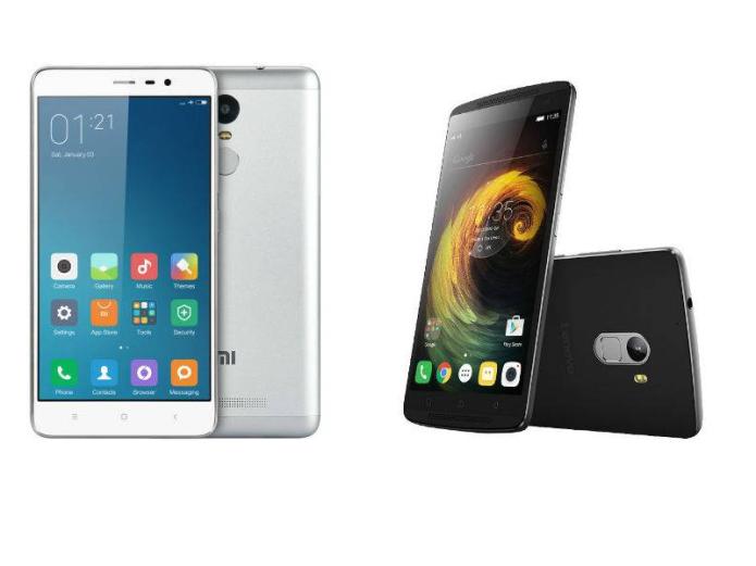 Top Note smartphones H1 2016 : Lenovo Vibe K4 Note VS Xiaomi Redmi Note 3 Pro VS…