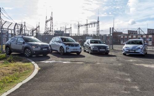 Audi A3 e-tron v BMW i3 v Citroen C4 Cactus v Toyota Prius : Economy comparison test part one