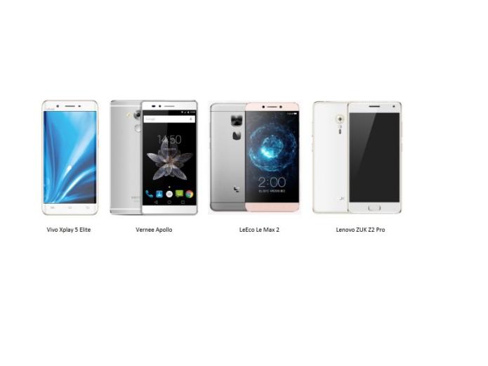 Le Max 2 vs ZUK Z2 Pro vs Vernee Apollo vs Vivo Xplay 5 Elite : 6GB RAM phone battle