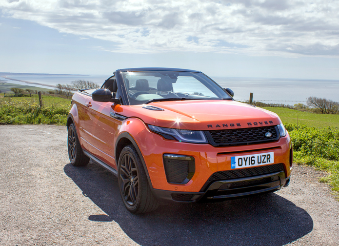 Range Rover Evoque Convertible first drive review : Top down, revs up