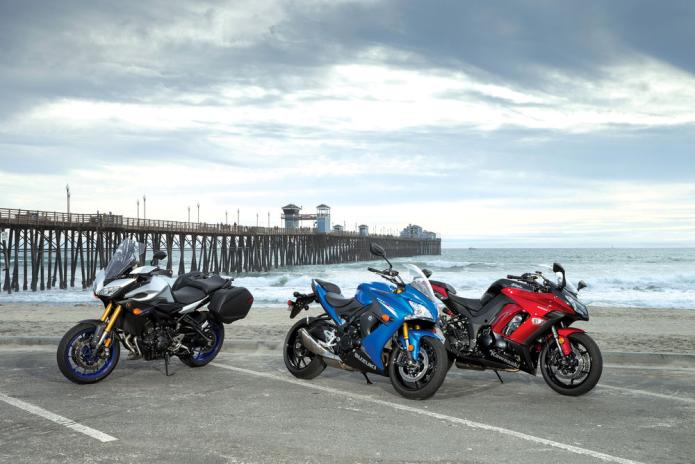 Kawasaki Ninja 1000 ABS vs. Suzuki GSX-S1000F vs. Yamaha FJ-09 Comparison Test