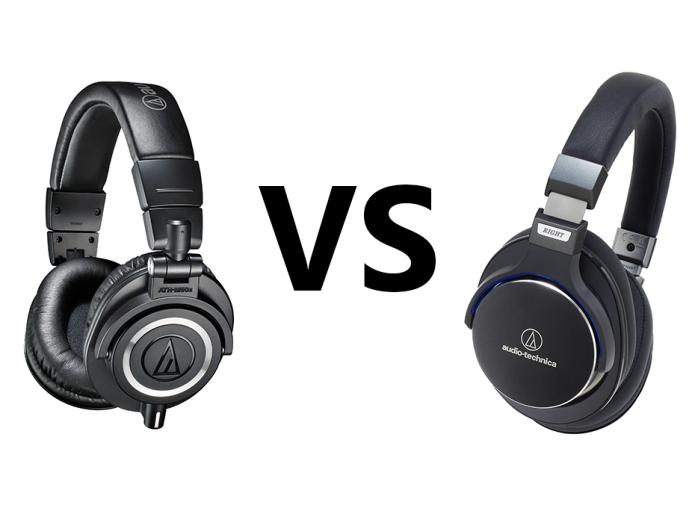 Audio Technica ATH-M50X vs ATH-MSR7 Comparison Review