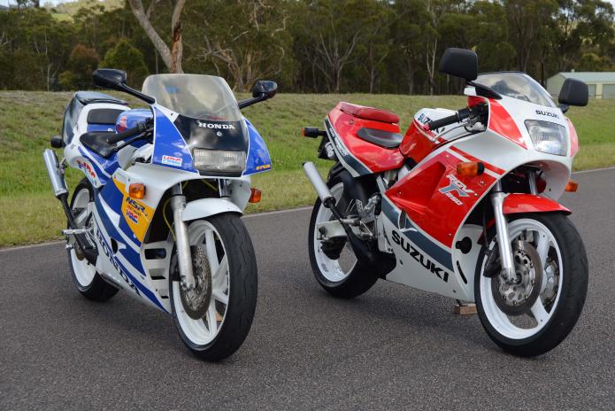 Two-Stroke Shootout : Honda NSR250R Vs. Suzuki RGV250