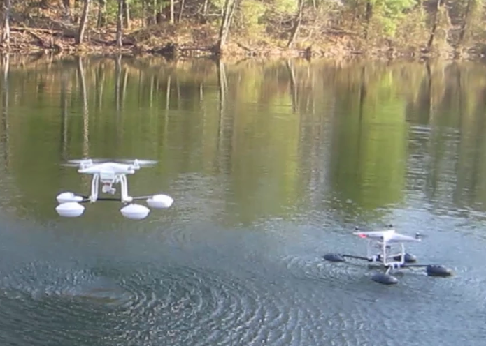 WaterStrider Allows The DJI Phantom 3 To Land And Takeoff On Water