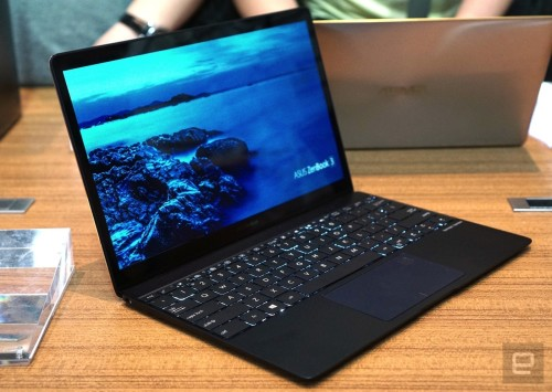 ASUS' ZenBook 3 is thinner, lighter and faster than the MacBook