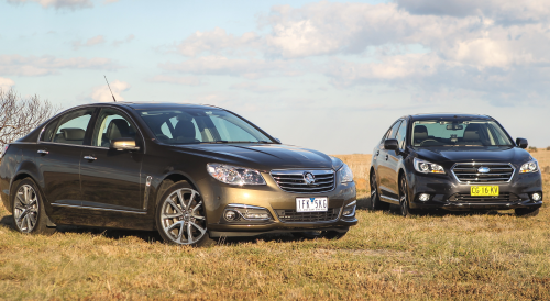 Holden Commodore Calais V v Subaru Liberty 3.6R Comparison