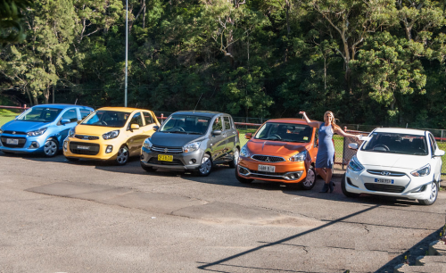 Micro Car Comparison : Holden Spark v Kia Picanto v Mitsubishi Mirage v Suzuki Celerio v Hyundai Accent