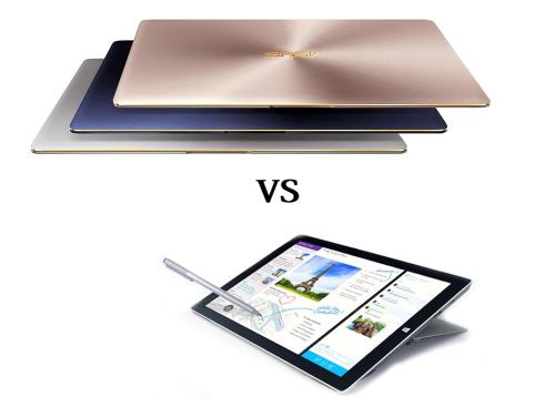 Asus ZenBook 3 vs Microsoft Surface Pro 4 : What's the difference?