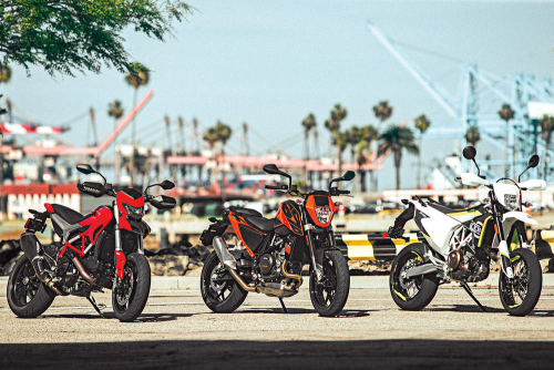 Ducati Hypermotard 939 vs. Husqvarna 701 Supermoto vs. KTM 690 Duke – COMPARISON TEST