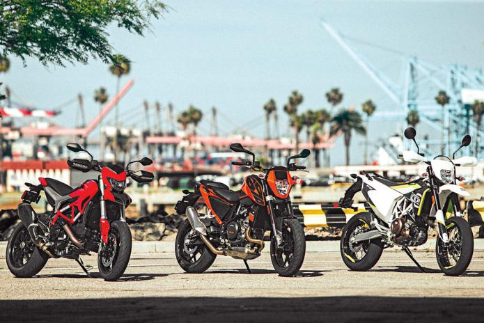 Ducati Hypermotard 939 vs. Husqvarna 701 Supermoto vs. KTM 690 Duke - COMPARISON TEST