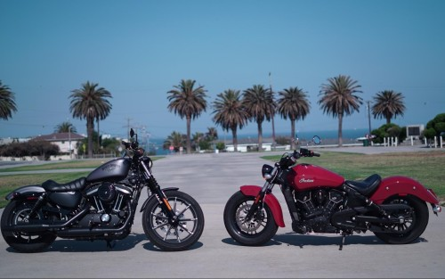 The Great American $9k Cruise-Off : H-D Iron 883 Vs. Indian Scout Sixty