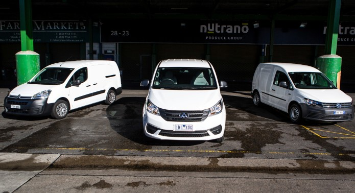 Budget van comparison : Citroen Berlingo v LDV G10 v Volkswagen Caddy