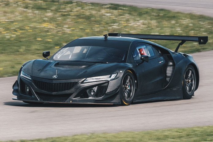 Acura-NSX-GT3-race-car-front-three-quarter-motion