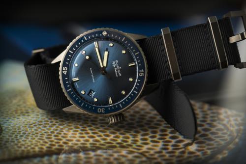 Blancpain Fifty Fathoms Bathyscaphe Blue & Ceramic Watch Hands-On