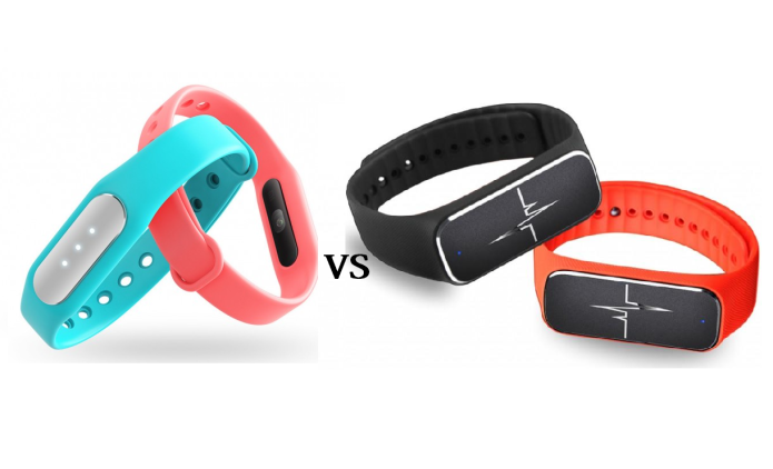 Xiaomi mi band vs. 37 degree L18 smart band Comparison